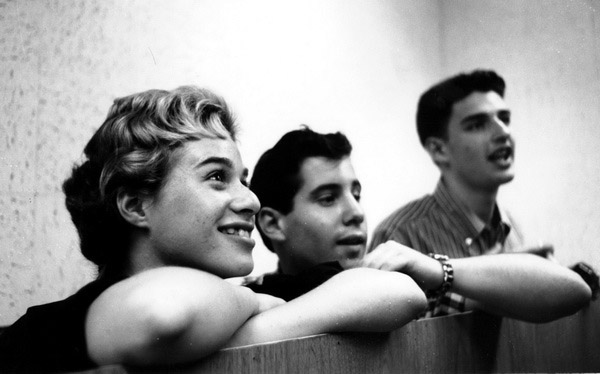 Carole King, Paul Simon and Gerry Goffin in 1957.