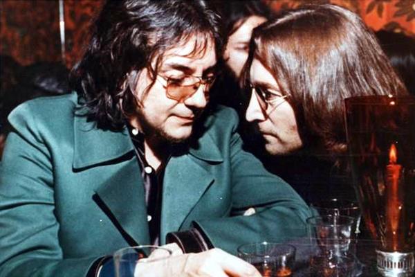 Jim Keltner and John Lennon in 1974