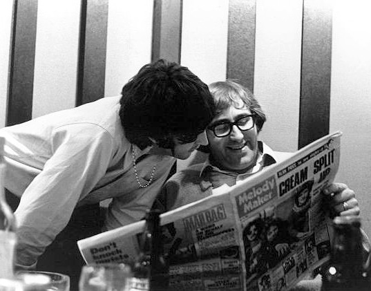 Mal Evans reads the news today, oh boy. The gentle giant, who would have turned 80 in May, is seen here with Paul McCartney.